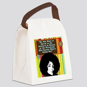 Paralegal In Charge [Groovy Editi Canvas Lunch Bag